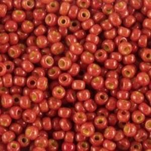 Picture of Opaque Brick Seed Bead #409E / Size 11<br />Approximately 25 ~        Grams