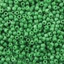 Picture of Opaque Green Seed Bead #411 / Size 11<br />Approximately 25 ~        Grams