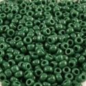 Picture of Opaque Medium Green Seed Bead #411B / Size 11<br />Approximately 25 ~        Grams
