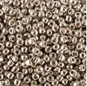 Picture of Metallic Nickel Silver Seed Bead #464 / Size 11<br />Approximately 25 ~        Grams