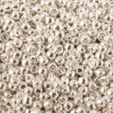 Picture of Galvanized Silver Seed Bead #470 / Size 11<br />Approximately 25 ~        Grams