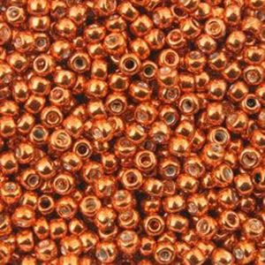 Picture of Galvanized Orange Seed Beads Size 11 Color 486<br />Approximately 25 ~        Grams