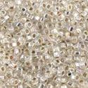 Picture of Silverlined Silver AB Seed Bead #635 / Size 11<br />Approximately 25 ~ Grams