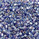Picture of Silverlined Sapphire AB Seed Bead #642 / Size 11<br />Approximately ~ 25 Grams
