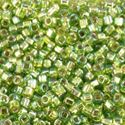 Picture of Silverlined Chartreuse AB Seed Bead #643A / Size 11<br ~        />Approximately 25 Grams