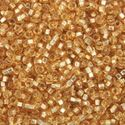 Picture of Silverlined Gold Seed Beads Color #4 / Size #15<br />Approximately 25 ~        Grams