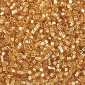 Picture of Size 15 Seed Bead, Silver-Lined Gold #4, Approximately 25 ~ Grams