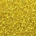 Picture of Size 15 Seed Bead, Silver-Lined Yellow #6, Approximately 25 ~ Grams