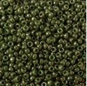 Picture of Opaque Lustre Olive Seed Bead #431I / Size 15<br />Approximately 25 ~        Grams