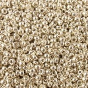 Picture of Galvanized Silver Seed Bead #470 / Size 15<br />Approximately 25 ~        Grams