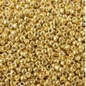 Picture of Size 15 Seed Bead, Galvanized Gold #471, Approximately 25 ~        Grams
