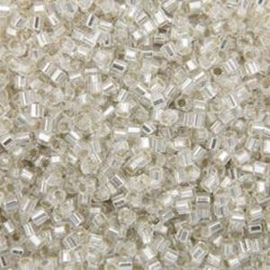Picture of Silverlined Crystal Hexagon Seed Beads #1 /Size #15<br ~        />Approximately 25 Grams