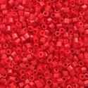 Picture of Size 15 Hexagon Seed Bead, Opaque Red #408, Approximately 25 ~ Grams