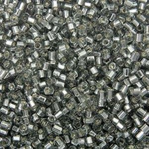 Picture of Size 15 Hexagon Seed Bead, Silver-Lined Grey #21, Approximately 10 ~ Grams