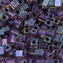 Picture of Grape Colorlined Purple Square Bead #384 / 3x3<br />Approximately 25 ~        Grams