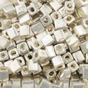 Picture of Galvanized Silver Square Bead #470 / 4x4mm<br />Approximately 25 ~ Grams
