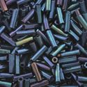 Picture of Metallic Blue Iris Bugle Bead #452 / 6mm<br />Approximately 25 ~        Grams