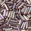 Picture of Silverlined Lt Amethyst AB Bugle Bead #640 / 6mm<br />Approximately ~        25 Grams