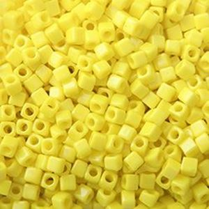 Picture of Opaque Square Lemon Yellow #404 1.8mm<br />Approx 10gr