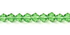"Picture of Dark Green Czech Style Bead 4mm 16"" Strand"