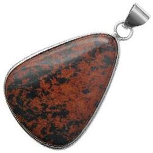 Picture of Silver Plated Mesa Jasper Stone Pendant