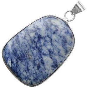 Picture of Silver Plated Sodalite Stone Pendant