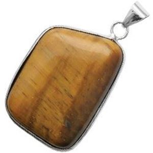 Picture of Silver Plated Tiger Eye Stone Pendant