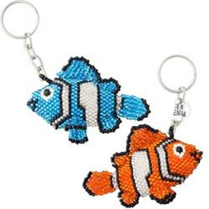 Picture of Beaded Clown Fish Key Chain