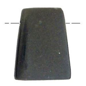 "Picture of Black Stone Trapezoid Bead, 35x45mm, 8"" Strand"