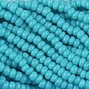 Picture of Green Turquoise Cut Seed Bead Size 13