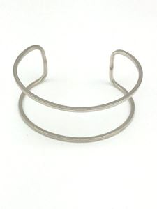 Picture of Sterling Silver Cuff 12 gauge Bracelet, 1-1/8 inch wide