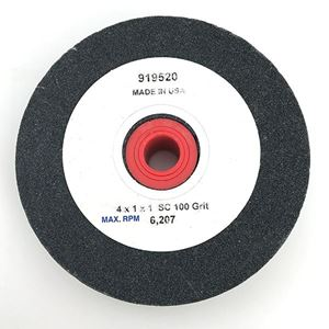 Picture of Black Grinding Wheel 4 Inch 100 Grit, Made in USA