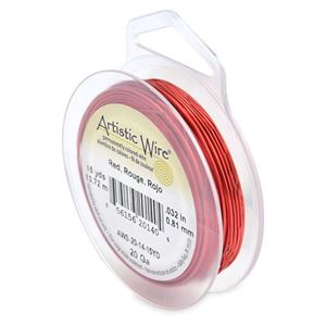 Picture of Red Artistic Wire 20ga 15 Yards