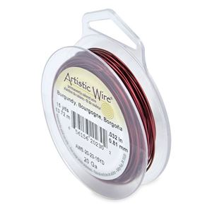 Picture of Burgundy Artistic Wire 20ga 15 Yards