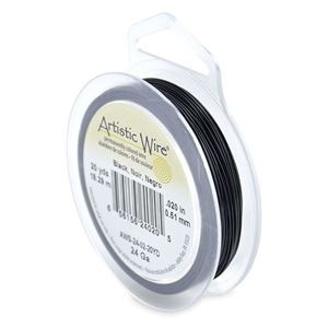 Picture of Black Artistic Wire 24ga 20 Yards