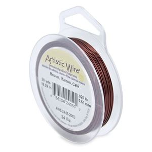 Picture of Brown Artistic Wire 24ga 20 Yards