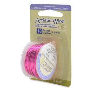 Picture of Silver Plated Fuchsia Artistic Wire 18ga 12 Feet