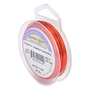 Picture of Silver Plated Tangerine Artistic Wire 20ga 25 Feet