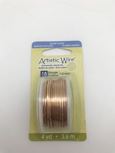 Picture of Silver Plated Gold Artistic Wire 18ga 12 Feet