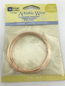 Picture of Silver Plated Gold Artistic Wire 16ga 10 Feet