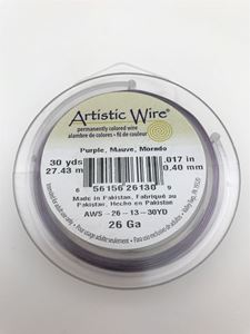 Picture of Purple Artistic Wire 26ga 30 Yards