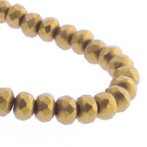 Picture of Czech Glass Bronze Pale Gold Fire Polished Rondelle 3x5mm<br />50 ~        Beads