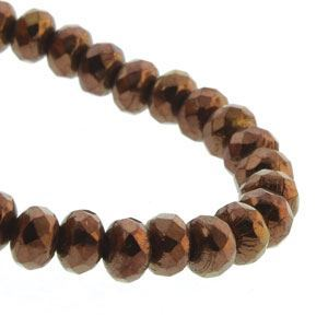 Picture of Czech Glass Dark Bronze Fire Polished Rondelle 3x5mm<br />50 ~ Beads