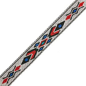 "Picture of 3/4"" White and Black Woven Braid - 5 feet"