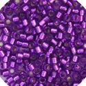 Picture of Miyuki Delica Size 11 Seed Beads, Magenta Silverlined - Dyed
