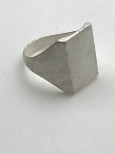 Picture of Sterling Silver Machine Cast Rectangle Ring 13x18mm - Size 9