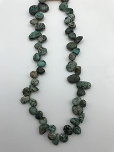 "Picture of African Turquoise Drop Chip Beads 16"" Strand"