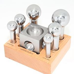 Picture of Firebird Dapping Punch and Block Set, 7-pieces 25-50mm