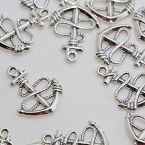 Picture of Sterling Silver Anchor ~        with Rope, 17x19mm