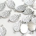 Picture of Sterling Silver Hammered Oval Link 9x17mm